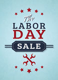 Labor day sale. Vector banner. Royalty Free Stock Photo