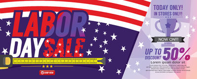 Labor Day Sale 6250x2500 pixel Banner. Stock Images