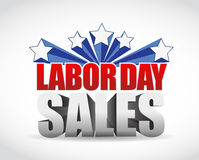 Labor day sales sign illustration design Stock Photo