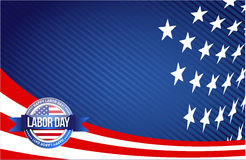 labor day seal sign illustration design graphic Royalty Free Stock Images