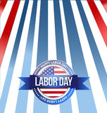 labor day seal sign illustration design graphic Stock Photos