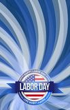 labor day seal sign illustration design graphic Royalty Free Stock Image