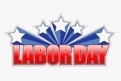 labor day sign illustration design Stock Photos