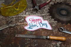 Labor day sign Royalty Free Stock Image