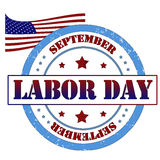 Labor day stamp. Labor day Grunge rubber stamp, label vector illustration Royalty Free Stock Photo