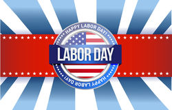 Labor day star sign illustration design graphic Royalty Free Stock Photo
