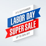 Labor Day Super Sale banner Royalty Free Stock Photography