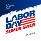 Labor Day Super Sale Royalty Free Stock Photography