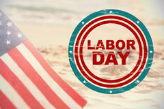 Composite image of labor day text in circles stock photography