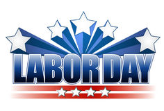 Labor day text design. Illustrated labor day text design Stock Image