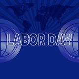 Labor day text on map background Stock Image