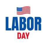 Labor Day. Typography logo for USA Labor Day. Happy Labor Day USA 4th of September Royalty Free Stock Image