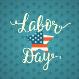 Labor day unique poster with handwritten lettering Stock Images
