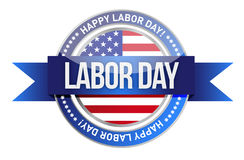 Labor day. us seal and banner Stock Photo