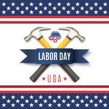 Labor Day USA background template. Stock Photos