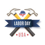 Labor Day USA, background template. Royalty Free Stock Photo