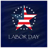 Labor Day with USA star Design. For web design and application interface, also useful for infographics. Vector illustration Royalty Free Stock Image