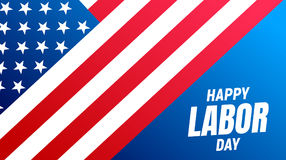 Labor Day USA. USA Labor Day background. Banner with USA flag and typography. 4th of September USA Labor Day holiday Stock Image