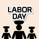 Labor Day. Vector illustration of a background for Happy Labor Day Stock Images