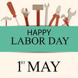 Labor Day. Vector illustration of a background for Happy Labor Day Stock Photography