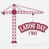 Labor Day. Vector illustration of a background for Happy Labor Day Stock Photos