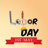 Labor Day. Vector illustration of a background for Happy Labor Day Royalty Free Stock Photography