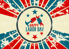 Labor day vintage design Royalty Free Stock Photos