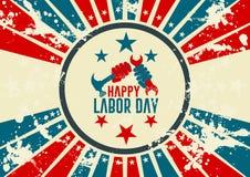 Labor day vintage design Royalty Free Stock Photos