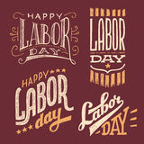 Labor Day vintage hand-lettering designs Royalty Free Stock Photo