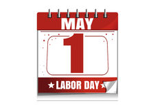 Labor Day. Wall calendar. 1 May. International Workers Day date in the calendar. Desktop calendar. Vector illustration isolated on white background vector illustration