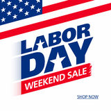 Labor Day Weekend Sale. Advertising banner Stock Image