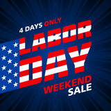 Labor Day Weekend Sale Stock Photo