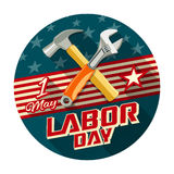Labor day with work tools construction Royalty Free Stock Image