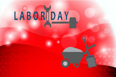 Labor day and working tools Stock Photos