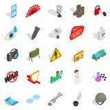 Labor icons set, isometric style. Labor icons set. Isometric set of 25 labor vector icons for web isolated on white background Royalty Free Stock Images