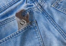Labor jean pocket Royalty Free Stock Images