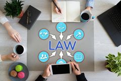 Labor Law Lawyer Legal Advice Business concept on office desktop. Labor Law Lawyer Legal Advice Business concept on office desktop stock photo