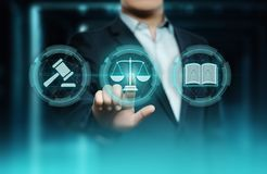 Labor Law Lawyer Legal Business Internet Technology Concept.  stock image