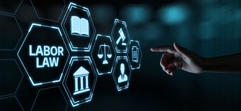Labor Law Lawyer Legal Business Internet Technology Concept.  royalty free stock photography