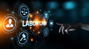 Labor Law Lawyer Legal Business Internet Technology Concept royalty free stock photos