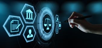 Labor Law Lawyer Legal Business Internet Technology Concept.  royalty free stock photos