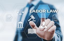 Labor Law Lawyer Legal Business Internet Technology Concept royalty free stock photography