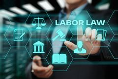 Labor Law Lawyer Legal Business Internet Technology Concept.  stock photography