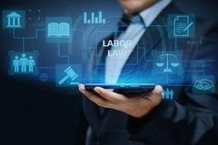 Labor Law Lawyer Legal Business Internet Technology Concept.  Royalty Free Stock Images