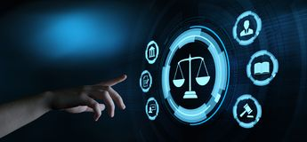 Labor Law Lawyer Legal Business Technology Concept.  royalty free stock photos