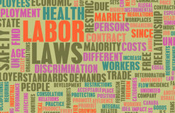 Labor Laws. In the Workplace as Concept royalty free illustration