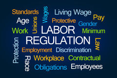 Labor Regulation Word Cloud Stock Photo