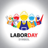 Labor symbol icon. Vector design. Labor day concept Stock Photography