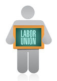 Labor union sign illustration design Stock Photography