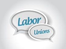 Labor unions message bubbles Stock Photo
